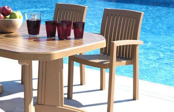 میز پلاستیکی طرح چوب